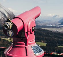 Pink Mountain Telescope by PatiDesigns