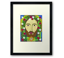 Face of Christ Framed Print