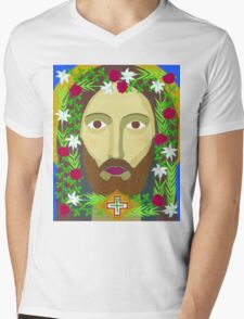 Face of Christ Mens V-Neck T-Shirt