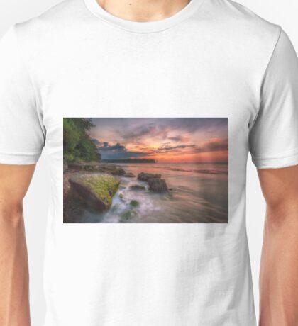 Rocky Beach Sunset Unisex T-Shirt