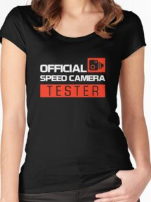OFFICIAL SPEED CAMERA TESTER (7) Women's Fitted Scoop T-Shirt