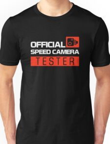 OFFICIAL SPEED CAMERA TESTER (7) Unisex T-Shirt