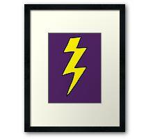 Scott Pilgrim VS the World - Lightning Bolt Shirt - Knives Chow Framed Print