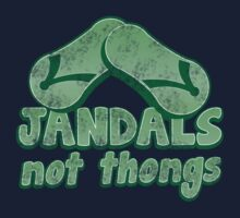 JANDALS not thongs with funny New Zealand distressed version Kids Tee