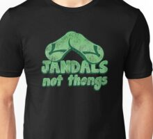 JANDALS not thongs with funny New Zealand distressed version Unisex T-Shirt