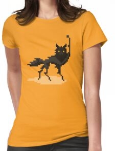 Canis Lupus (Pixel-art) Womens Fitted T-Shirt