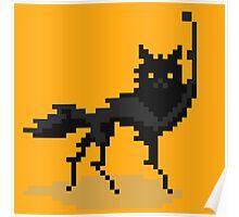 Canis Lupus (Pixel-art) Poster