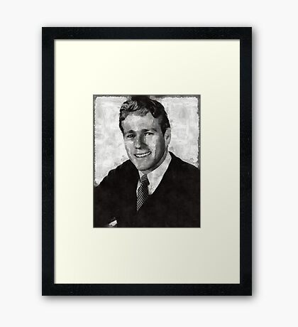 Ryan O'Neil Hollywood Actor Framed Print
