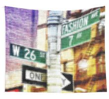 "Pixels Print ""NYC FASHION AVENUE"" Wall Tapestry"