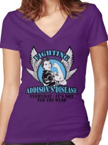 Addisions disease Women's Fitted V-Neck T-Shirt