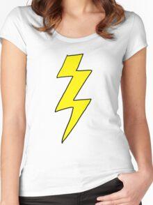 Scott Pilgrim VS the World - Lightning Bolt Shirt - Knives Chow Women's Fitted Scoop T-Shirt