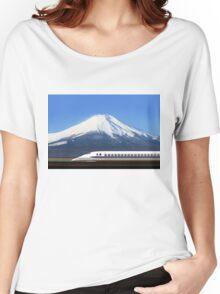 Mount Fuji and Tokaido Shinkansen, Shizuoka, Japan Women's Relaxed Fit T-Shirt