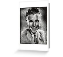 Dick Powell Vintage Hollywood Actor Greeting Card