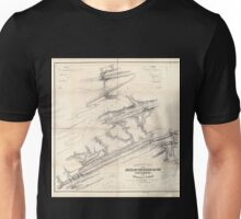 0306 Railroad Maps Topographical map of the Mine Hill and Schuylkill-Haven Rail Road with its branches and extension to Ashland surveyed and drawn by Henry W Poole Civl Topl Unisex T-Shirt