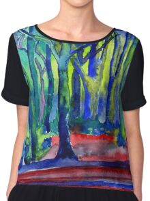 Whitwell Wood, Derbyshire Chiffon Top