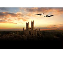 Lancs over Lincoln  Photographic Print