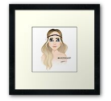 The hippie one - PE Framed Print