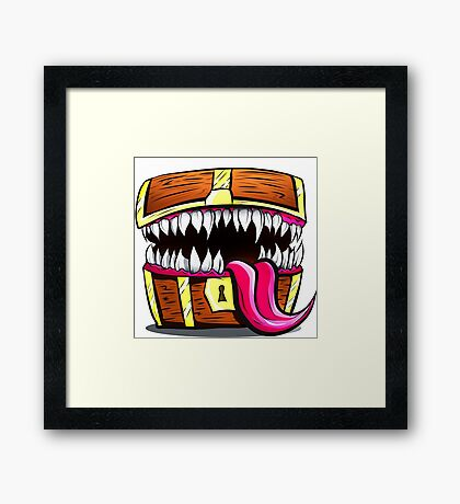 Mimic Chest - Dungeons & Dragons Monster Loot Framed Print