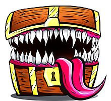 Mimic Chest - Dungeons & Dragons Monster Loot Photographic Print
