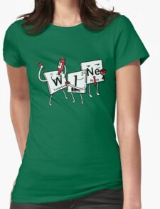 Wine Element Womens Fitted T-Shirt