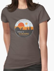 Welcome to Tatooine Womens Fitted T-Shirt