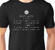 Death Note Rule 3 Unisex T-Shirt