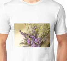 Lavender Posie against Tree Unisex T-Shirt