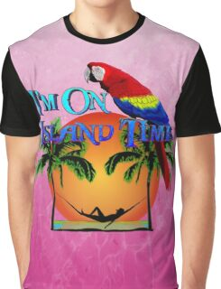 Island Time Pink Graphic T-Shirt