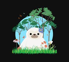 Super Cute White Sloth sitting down Unisex T-Shirt