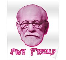 Pink Freud Head Poster