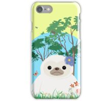 Super Cute White Sloth sitting down iPhone Case/Skin