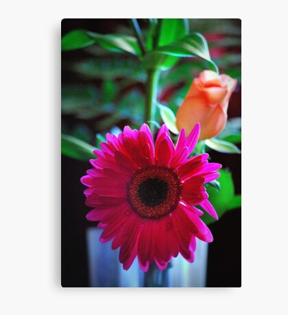 The gift of flowers Canvas Print