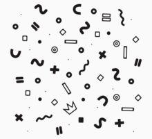 Random geometrical math One Piece - Short Sleeve