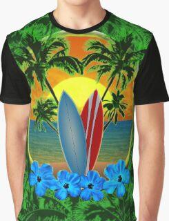 Surfboard Sunset  Graphic T-Shirt