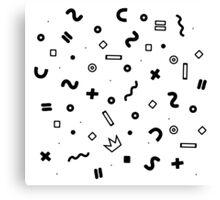 Random geometrical math Canvas Print
