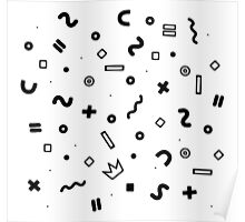 Random geometrical math Poster