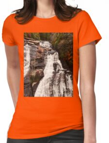High Falls Dupont State Forest Waterfall Womens Fitted T-Shirt