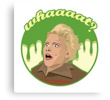 Ghostbusters Say What (White) Canvas Print