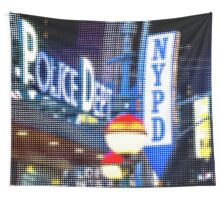 "Pixels Print ""NEW YORK POLICE DEPT"" Wall Tapestry"