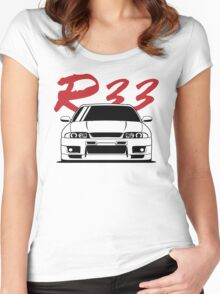 Skyline R33 GTR Women's Fitted Scoop T-Shirt