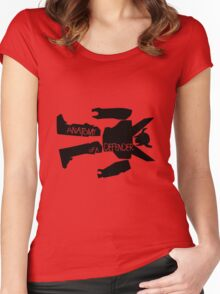 Anatomy of a defender Women's Fitted Scoop T-Shirt