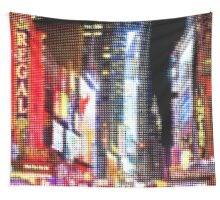 "Pixels Print ""TIMES SQUARE BY NIGHT"" Wall Tapestry"