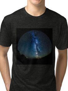 Night Sky with the Milky Way Fisheye Tri-blend T-Shirt