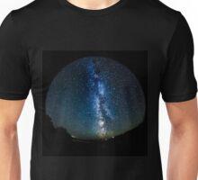 Night Sky with the Milky Way Fisheye Unisex T-Shirt