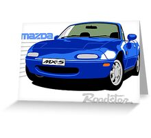 Mazda MX-5 blue Greeting Card