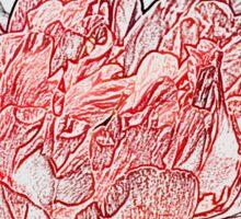 Red Peony, Pencil Sticker