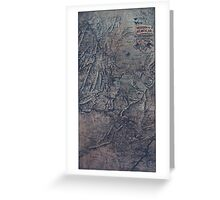 0423 Railroad Maps Birds-eye map of the Western and Atlantic R R the great Kennesaw route Army operations Atlanta campaign Greeting Card