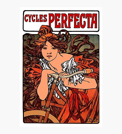 """PERFECTA BICYCLE"" Vintage Advertising Print Photographic Print"