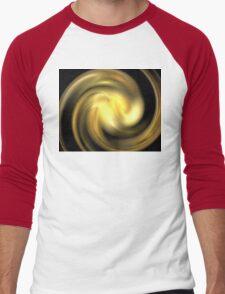 Honey Gold Swirl Men's Baseball ¾ T-Shirt