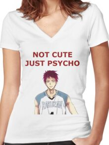 psycho, baby Women's Fitted V-Neck T-Shirt